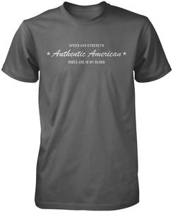 Speed & Strength Authentic American T-Shirt (Gray, Small)