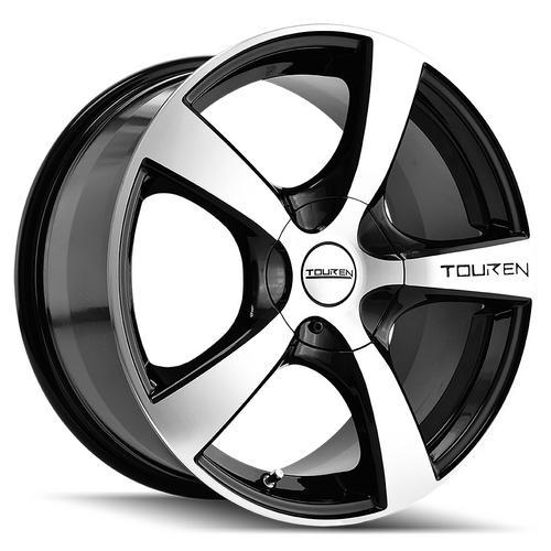 "4-Touren TR9 16x7 4x100/4x4.5"" +42mm Black/Machined Wheels Rims 16"" Inch"
