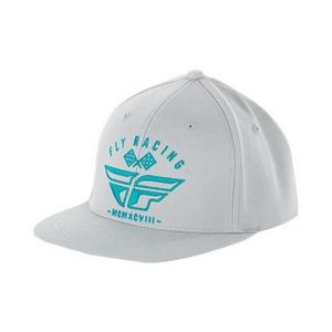 Fly Racing Revel Hat Gray/Teal (Gray, Large - X-Large)