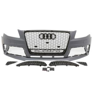 09-12 AUDI A4/S4 B8 RS4 QUATTRO STYLE FRONT BUMPER CONVERSION KIT W/ GLOSS BLACK GRILLES