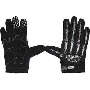 Lethal Threat Bone Hand Gloves Black/White (Black, XX-Large)