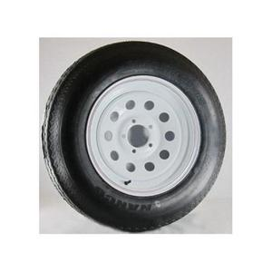 AWC TA2055012-71BF78C Bias C/6 Ply, 8 Spoke, Trailer Tire/Wheel Kit - F78-14 (205/75-14) - 5/4.5