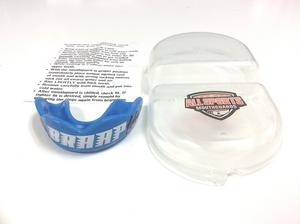 """All Sports Mouthguards White """"Braap"""" w/ Tire Tread Blue Mouthguard SM/MD"""