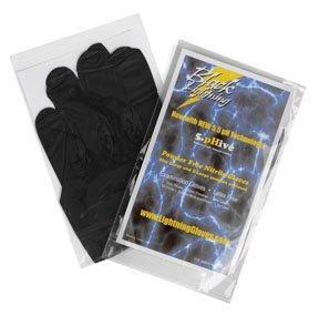 Atlantic Safety Products Black Lightning Powder Free Nitrile Gloves, Large