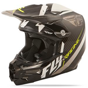 Fly Racing 2015 ADULT F2 Carbon Fastback MX ATV BMX Black/White Helmet XS