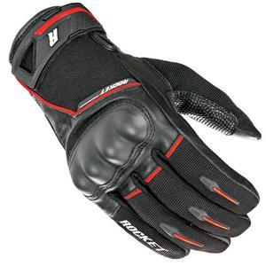 Joe Rocket Super Moto Touch Screen Gloves Black/Red Mens Size L