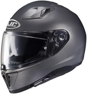 HJC i70 Semi-Flat Helmet Semi Flat Titanium (Gray, Small)