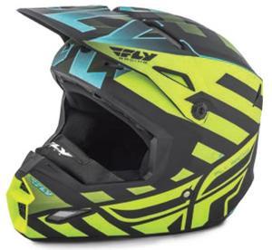 Fly Racing Elite Cold Weather Interlace Helmet Black/Hi-Vis (Black, Small)