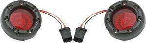 Custom Dynamics Bullet Ringz LED Rear Turn Signals Black Red Lens For 16-17 CVO