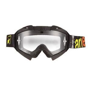 Ariete Adrenaline Senior Collection MX Goggles Yellow/Red (Black, OSFM)