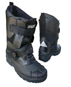 Rocket Snowgear Adult Waterproof Leather Snow Black Snowmobile Boots Size 5