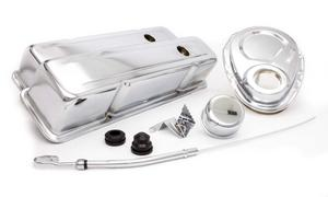 RACING POWER CO Small Block Chevy Chrome Engine Dress Up Kit P/N R3024