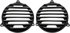Covingtons Black Finned Speaker Grill For Harley Davidson FLH 14-17 C0050-B
