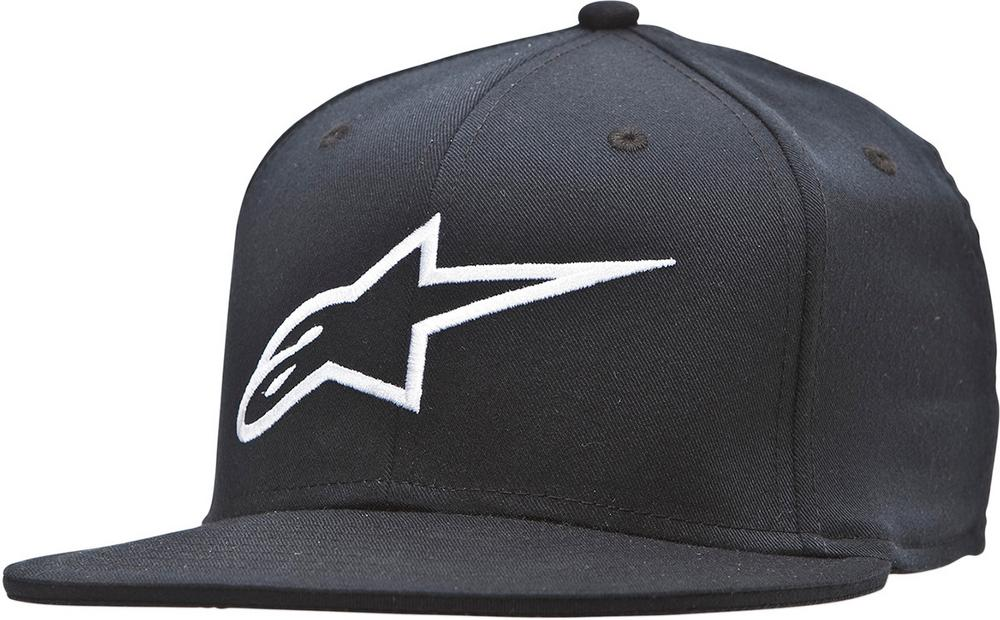 Alpinestars Adult Corporate Flat Flex Fit Hat Black LG/XL