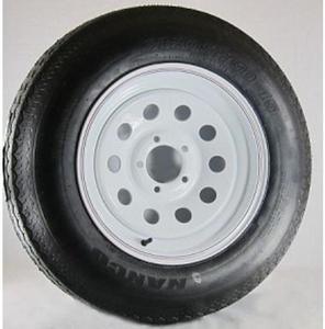 AWC TA2046012-71R205C-X Radial C/6 Ply, 8 Spoke, Trailer Tire/Wheel Kit - 205/75R14 - 5/4.5