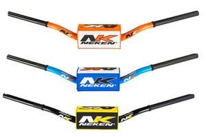 """Neken Conical Handlebars 1 1/8"""" ATV Bend Blue/White"""