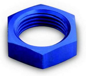 A-1 Products Blue Aluminum 12 AN Bulkhead Fitting Nut P/N 92412