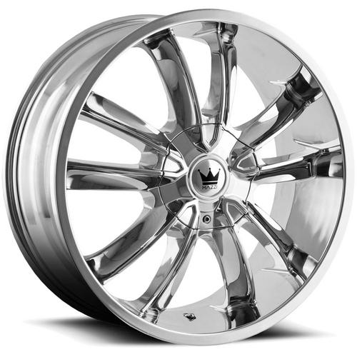 "Mazzi 366 Obsession 20x8.5 5x108/5x4.5"" +35mm Chrome Wheel Rim 20"" Inch"
