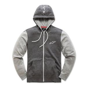Alpinestars Mach 1 Fleece Zip-Front Hoody Charcoal Heather (Gray, Medium)