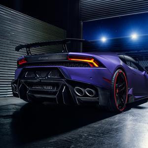 Vorsteiner Novara Carbon Fiber Rear Bumper with Diffuser for Lamborghini Huracan