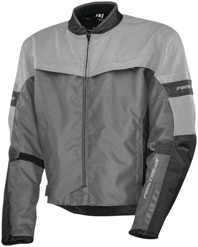 Firstgear Rush Jacket Silver (Black, XX-Large)