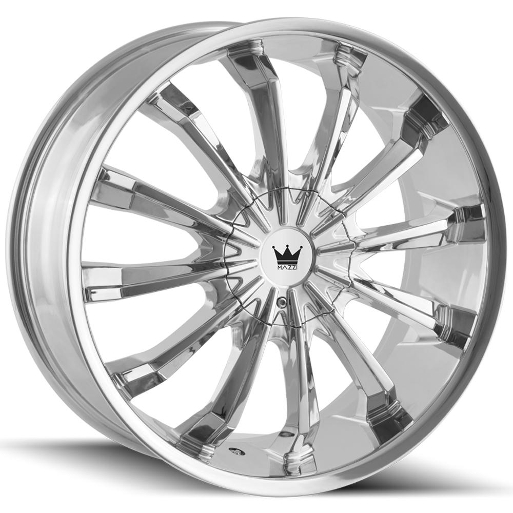 "Mazzi 341 Fusion 22x9.5 5x115/5x120 +18mm Chrome Wheel Rim 22"" Inch"