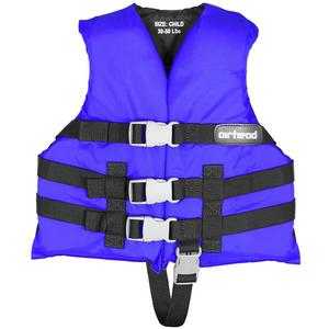 Airhead Open Sided Child PFD (Blue, 30-50 Lbs.)