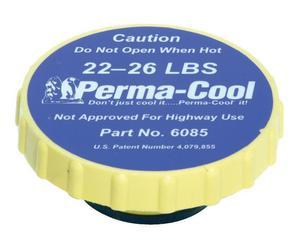PERMA-COOL Round Plastic 22-26 lb Radiator Cap P/N 6085