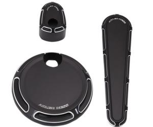 Arlen Ness 91-116 Dash Accessory Pack - Beveled - Black