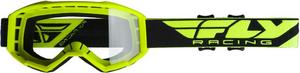 Fly Racing Focus Goggles Hi-Vis Yellow / Clear Lens (Yellow, OSFM)