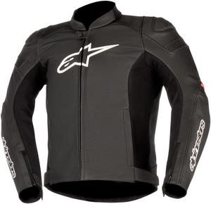 Alpinestars SP-1 Airflow Leather Motorcycle Riding Jacket Black/Red Mens Size 48