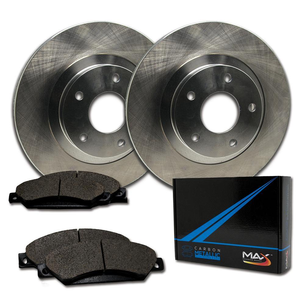 Rotors w//Ceramic Pads OE Brakes 2005-2008 Malibu 2006-2007 G6 Front