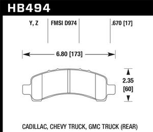 Hawk Performance HB494Y.670 Disc Brake Pad