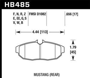 Hawk Performance HB795B.618 Disc Brake Pad Fits 14-17 CLA45 AMG GLA45 AMG
