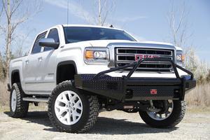 Fab Fours GM07-K2162-1 Black Steel Front Ranch Bumper Fits 07-13 Sierra 1500