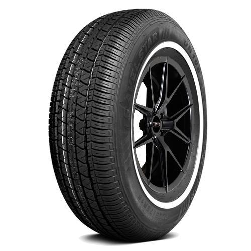 4-P205/75R14 Travelstar UN106 95S White Wall Tires