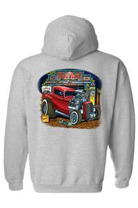 Men's Long Sleeve Shirt Hot Rod Garage: GREY (3XL)