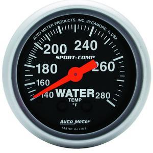 AutoMeter 3331 Sport-Comp Mechanical Water Temperature Gauge