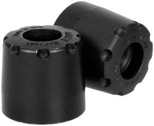 Ariete 12997/U1-N Alu-Rub Bar Ends - 12-14mm - Black