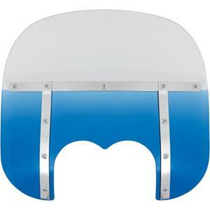 Memphis Shades MEM6636 13in. Memphis Fats Windshield (Dual Cutout) - Blue