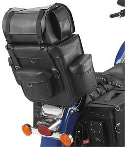 All American Rider 95/94 Ameritex Bikepack with Detachable Travel Case/Sissy Bar Bag - Jumbo - Classic (No Studs)