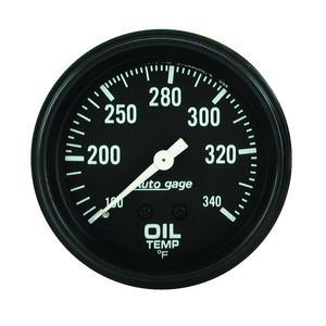 """AutoMeter 2314 Autogage Oil Temperature Gauge 2 5/8"""" 100 - 340 Deg. F"""