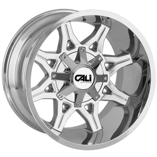 "4-Cali 9107 Obnoxious 20x12 8x6.5""/8x170 -44mm Chrome Wheels Rims 20"" Inch"