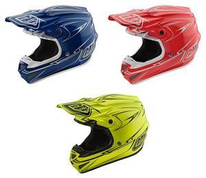 Troy Lee Designs 2018 SE4 Polyacrylite Helmet Pinstripe Yellow Size M