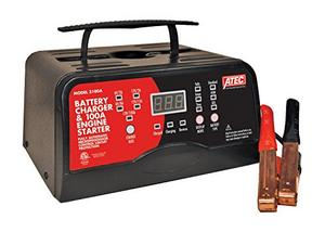 Associated Equipment 6/12 Volt Full_Rate Portable Smart Charger with 100A Engine