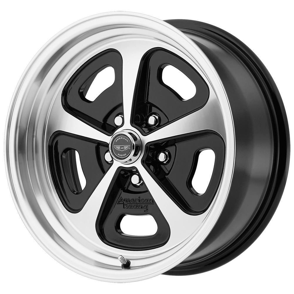"4-AR VN501 Mono Cast 17x9 5x4.5"" +0mm Black/Machined Wheels Rims 17"" Inch"