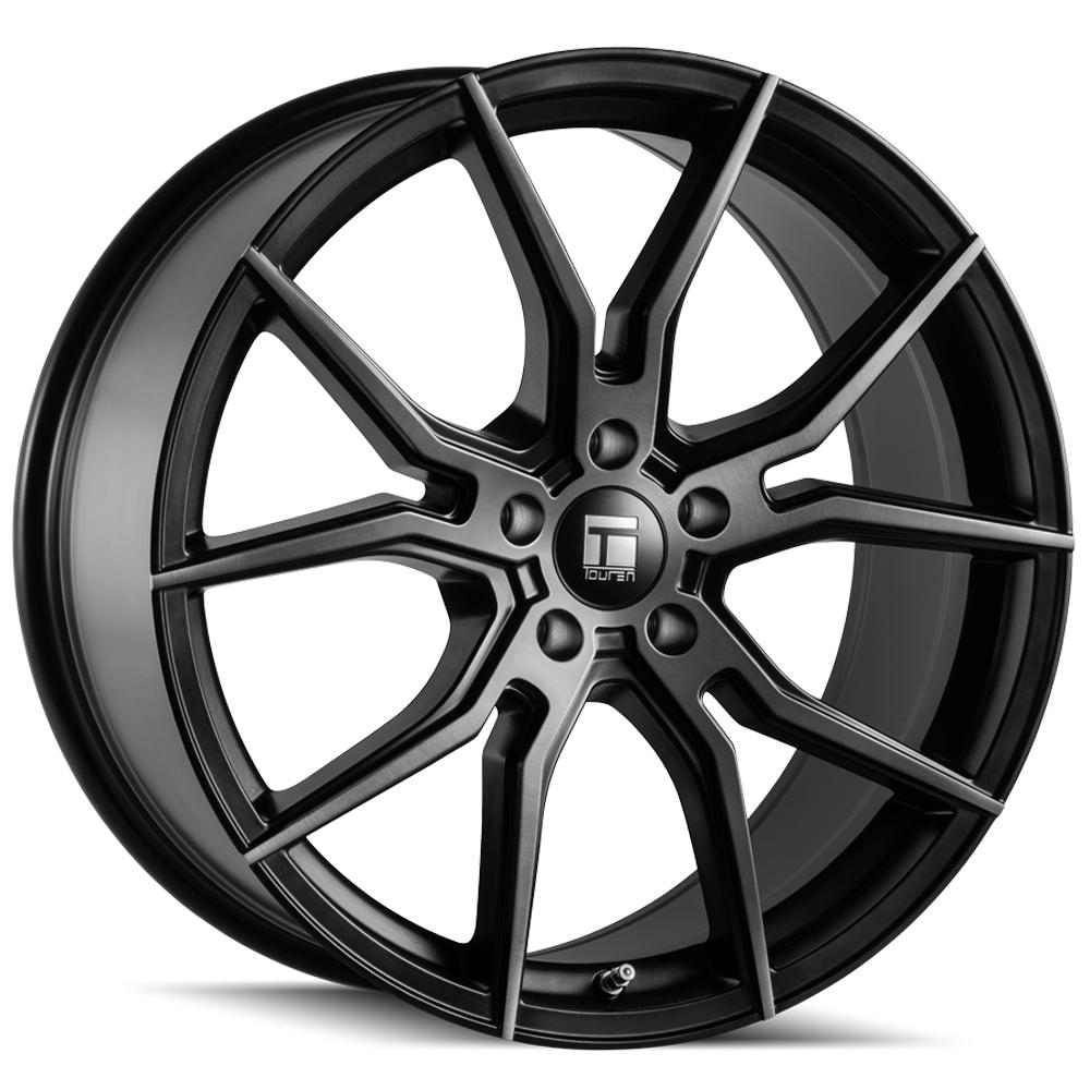 "Touren TF01 Flow Formed 17x7.5 5x108 +40mm Black/Brushed/Tint Wheel Rim 17"" Inch"