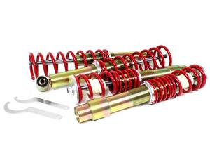 RSK STREET ADJUSTABLE COILOVER KIT - BMW E60 5-SERIES RWD (NON-M5) - RED