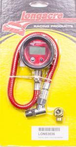 LONGACRE 2 in Digital 0-100 psi Basic Digital Tire Pressure Gauge P/N 53036