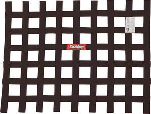 RACEQUIP 18 x 24 in Rectangle Black Window Net P/N 725005